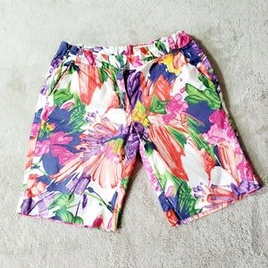Crewcuts Hawaiian Print Walking Shorts Adjustable
